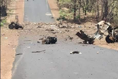 आईईडी ब्लास्ट ! नक्सलियों ने उडायी 2 पुलिस जीप, 15 जवान शहीद