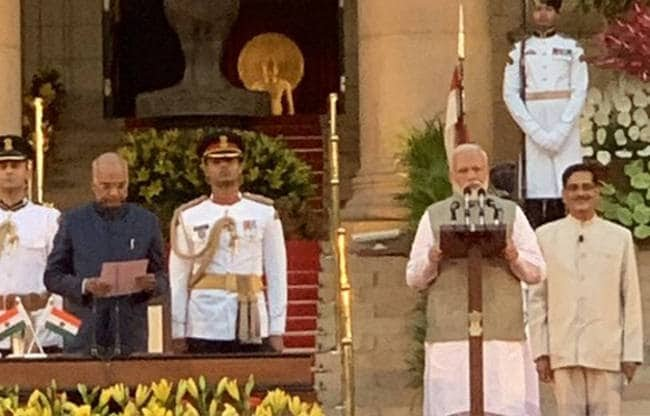 नयी लोकसभा हेतु शपथग्रहण समारोह सम्पन्न, प्रधानमंत्री सहित 58 लोगों ने ली शपथ