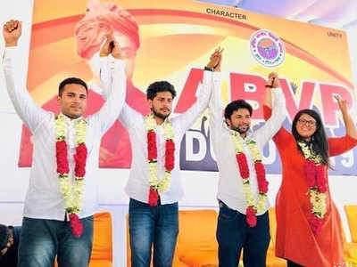 एबीवीपी ! दिल्ली यूनिवर्सिटी में तीन पदों पर हुआ कब्जा