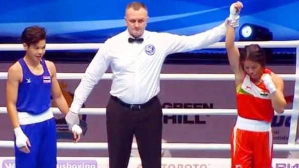 मेरीकॉम! विश्व महिला मुक्केबाजी चैम्पियनशिप के क्वार्टर फाइनल में पहुंची