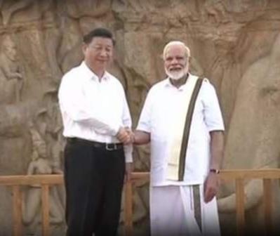 महाबलीपुरम ! शोर मंदिर में मिले चीनी राष्ट्रपति शी जिनपिंग और प्रधानमंत्री मोदी