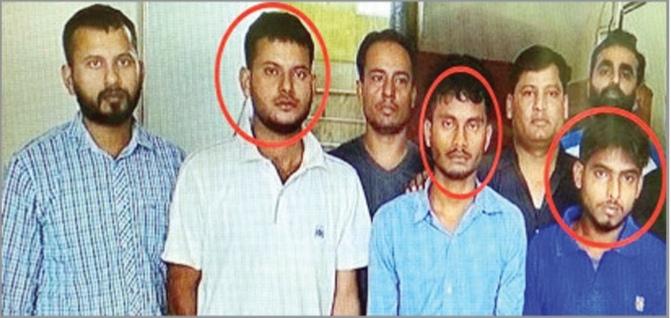 आईईडी के साथ तीन गिरफ्तार