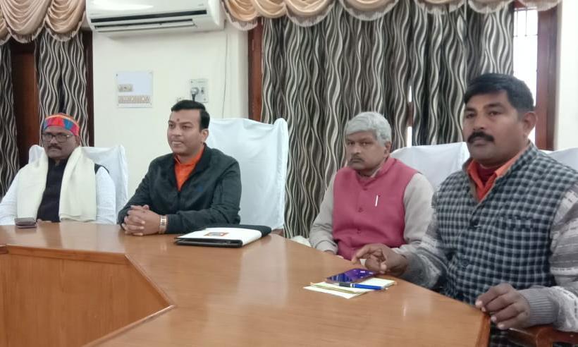 पत्रकार वार्ता! मंत्री आनंद स्वरूप शुक्ला ने विपक्षियों पर लगाया जनभावनाओं को भड़काने का आरोपी