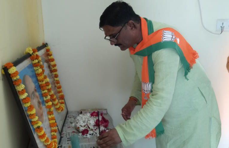 वृक्षारोपण कर मनायी गयी जनसंघ के संस्थापक डा. श्यामा प्रसाद मुखर्जी की जयन्ती