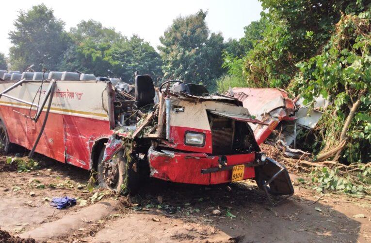 हादसा ! रोडवेज बस और पिकअप की भिड़ंत, सात यात्रियों की मौत दो दर्जन से अधिक यात्री घायल