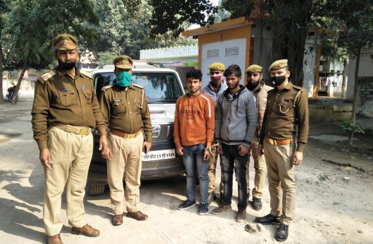 चोरी की स्कार्पियो सहित दो वाहन चोर गिरफ्तार