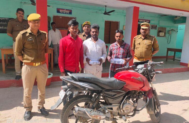 पुलिस पर फायर झोंक भागते समय तीन अपराधी गिरफ्तार