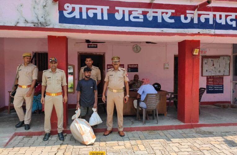 अवैध देशी शराब व नाजायज गांजा संग अभियुक्त गिरफ्तार