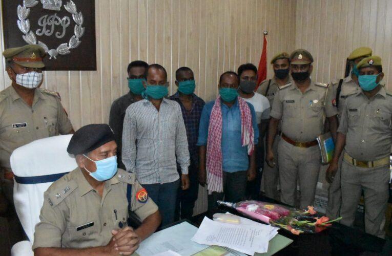 मारपीट में हुई मृत्यु की घटना के पांच आरोपी गिरफ्तार